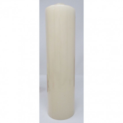 "Pillar Candle Unscented Ivory 3""x12"""