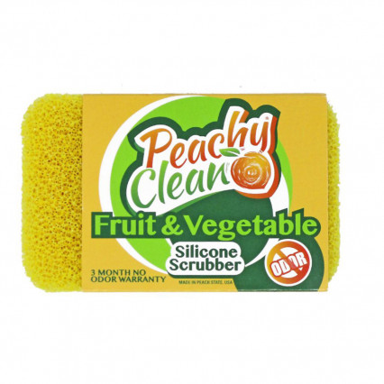 Peachy Clean Fruit & Vegetable Silicone Scrubber