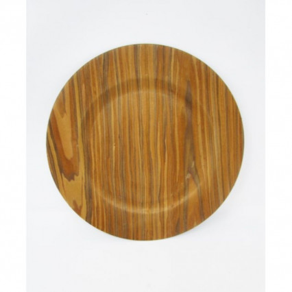 "Charger Plate 13"" Round Natural Woodgrain"
