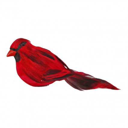 Cardinal with Feathers - Christmas Ornament Decoration
