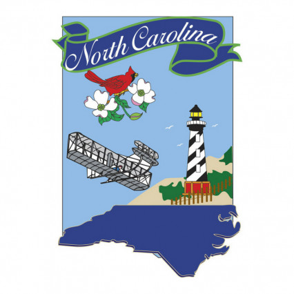 North Carolina Appliqué Garden Flag