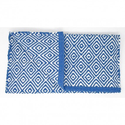 Diamond Design Cotton Woven Accent Rug