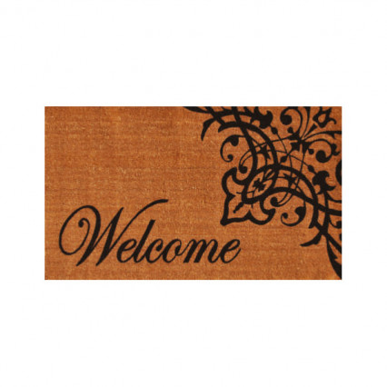 Scroll Welcome Doormat - 2' x 3'