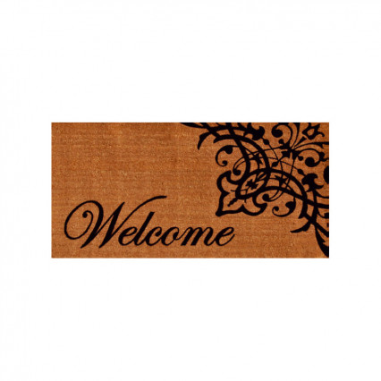 "Scroll Welcome Doormat - 2' 6"" x 4'"