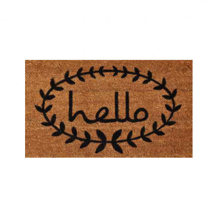 Calico Hello Doormat - 3' x 6'