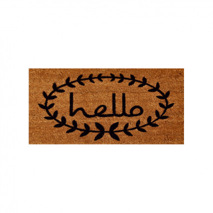 "Calico Hello Doormat - 2' 6"" x 4'"