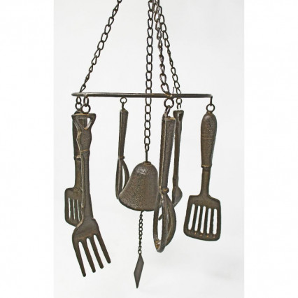 Cast Iron Bell Hanging Windchime