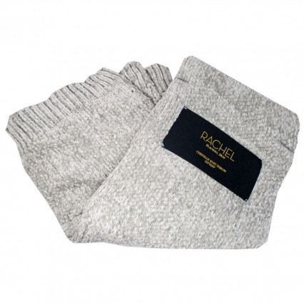 Chenille Knit Throw - Light Gray