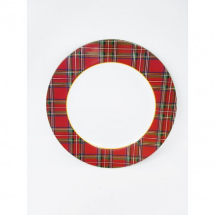 "Charger Plate 13"" Round Tartan Plaid"