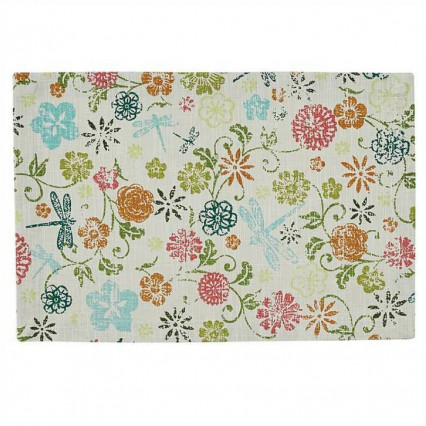 Dragonfly Floral Placemat
