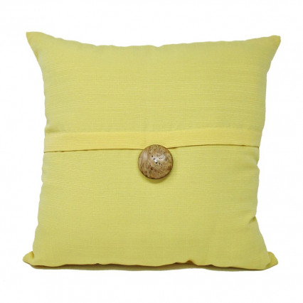 "17"" Sunshine Maize 1-button Indoor Outdoor Pillow"