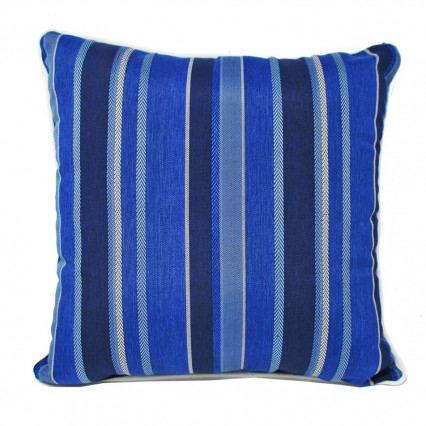 "17"" Antigua Marine Indoor Outdoor Accent Throw Pillow"