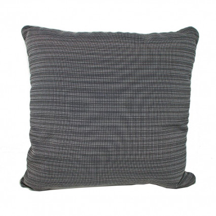 "17"" La Playa Gray Stripe Indoor Outdoor Accent Throw Pillow"