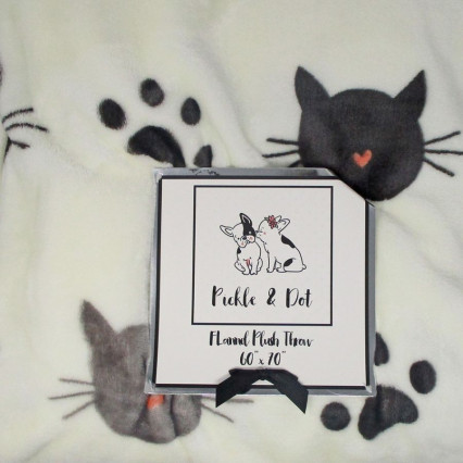 Cats Flannel Plush Throw