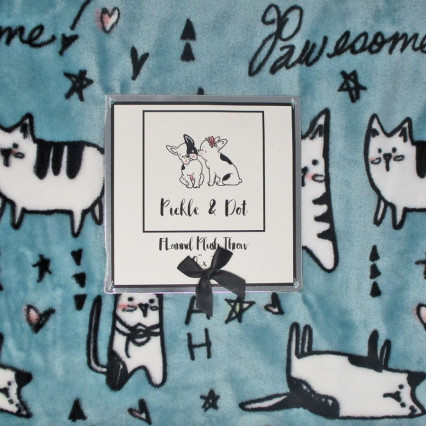 Cats Pawesome Flannel Plush Throw