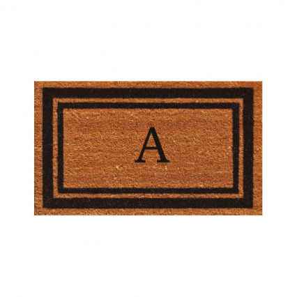 Black Border Monogram Doormat