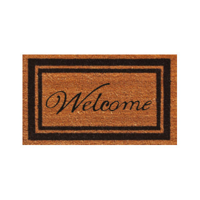 Black Border Welcome Doormat