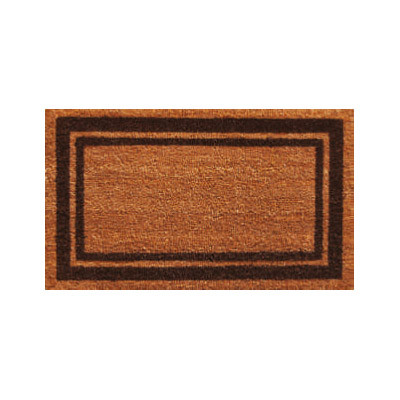 Brown Border Doormat - 2' x 3'