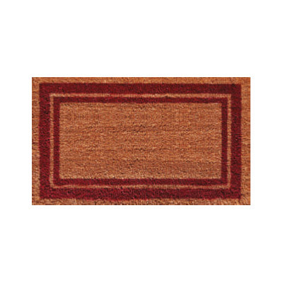 Burgundy Border Doormat - 2' x 3'