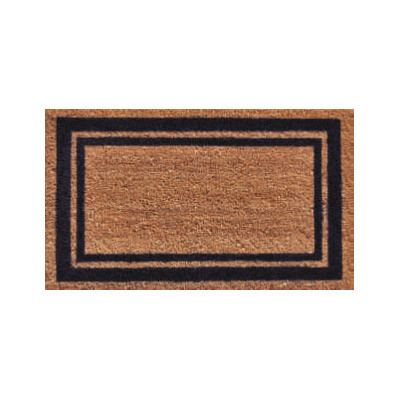 Dark Blue Border Doormat - 2' x 3'