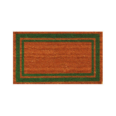 Green Border Doormat - 2' x 3'