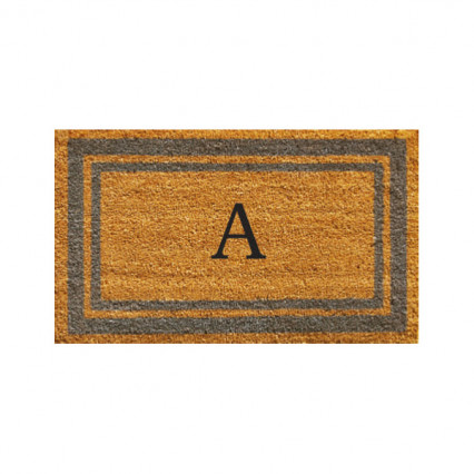 Periwinkle Border Monogram Doormat