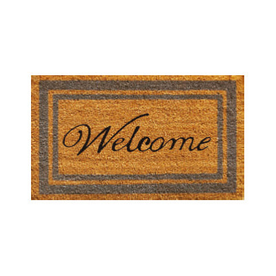 Periwinkle Border Welcome Doormat - 2' x 3'