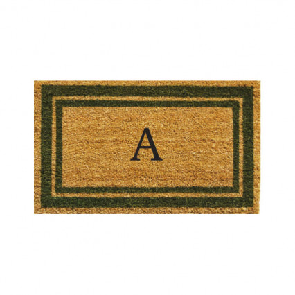Sage Border Monogram Doormat