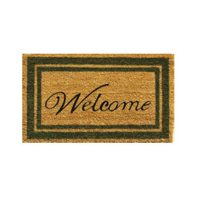Sage Border Welcome Doormat - 2' x 3'