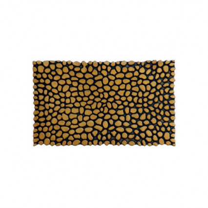 Pebbles Gold Rubber Doormat