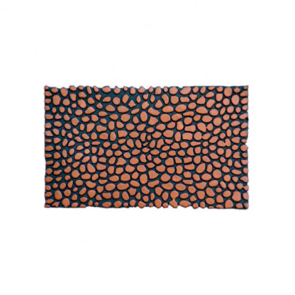 Pebbles Bronze Rubber Doormat