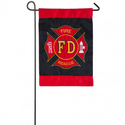 Fire Department Applique Garden Flag