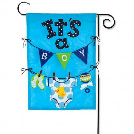 It's A Boy Appliqué Garden Flag