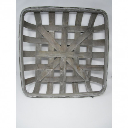 "Tobacco Basket - 20"" Square Gray"