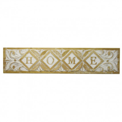 Home Wooden Sign Distressed White
