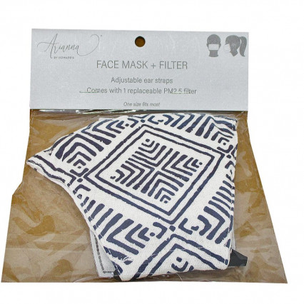 Adult Face Mask Black and White w PM2.5 filter
