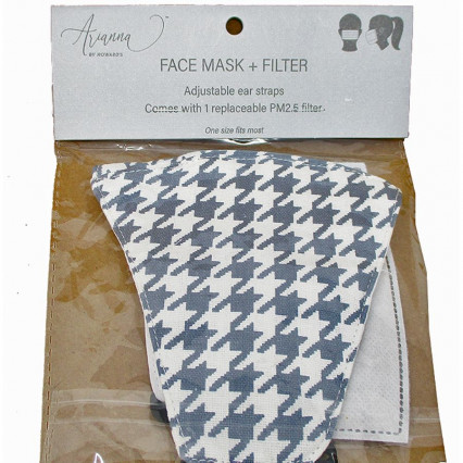 Adult Face Mask Houndstooth w PM2.5 filter