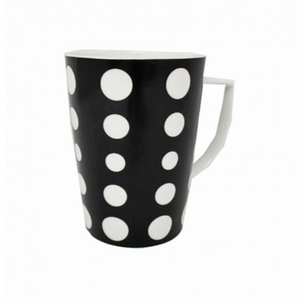 Black and White Polka Dot Mug