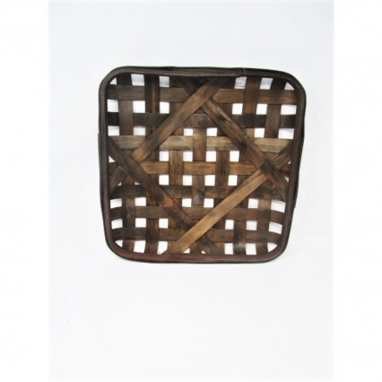 "Tobacco Basket-16"" Square Brown"