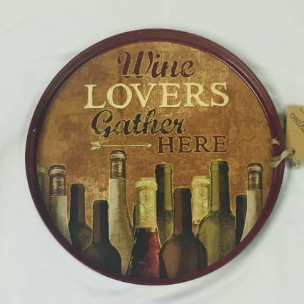 """Wine Lovers"" Serving Tray"