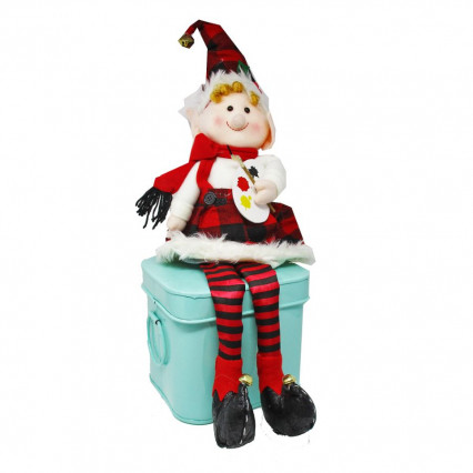 Plush Christmas Elf Shelf Sitter - Artist 23""