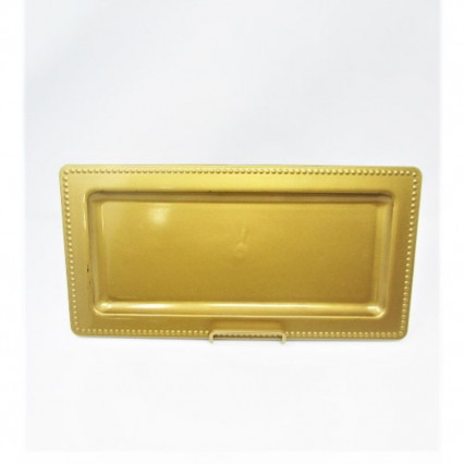 "Charger Plate 14""x7"" Rectangular Gold"