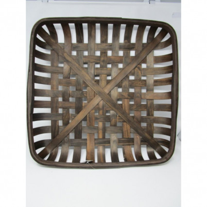 "Tobacco Basket - 21"" Square Brown"
