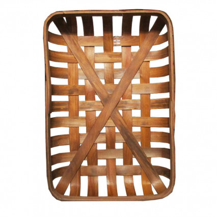 "Tobacco Basket - 20"" Rectangular Brown"