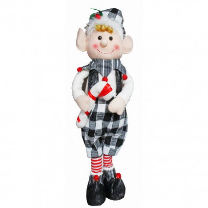 Christmas Elf Boy Standing Plush Decor