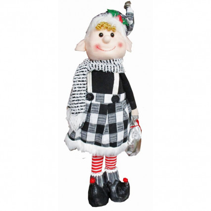 Christmas Elf Girl Standing Plush Decor