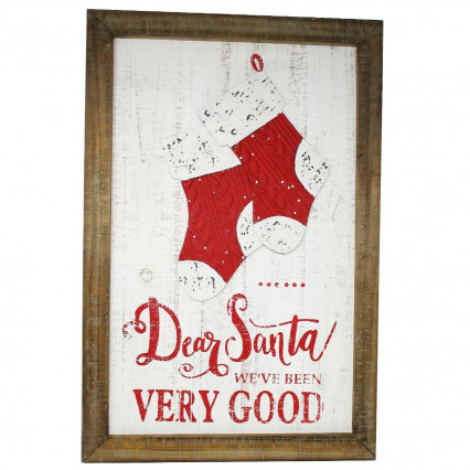 Dear Santa Christmas Wooden Sign