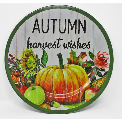 Autumn Harvest Wishes Charger Plate