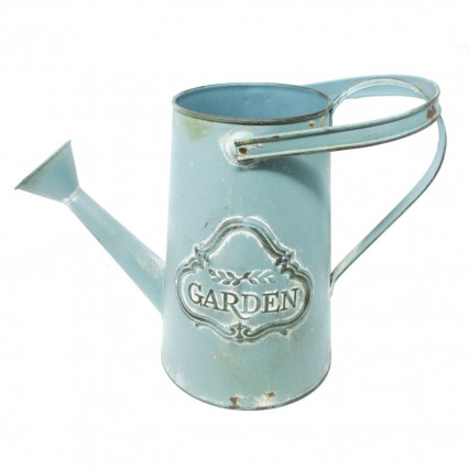 Rustic Teal Garden Watering Can Decor