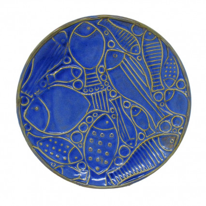 Blue Fish Ceramic Dish